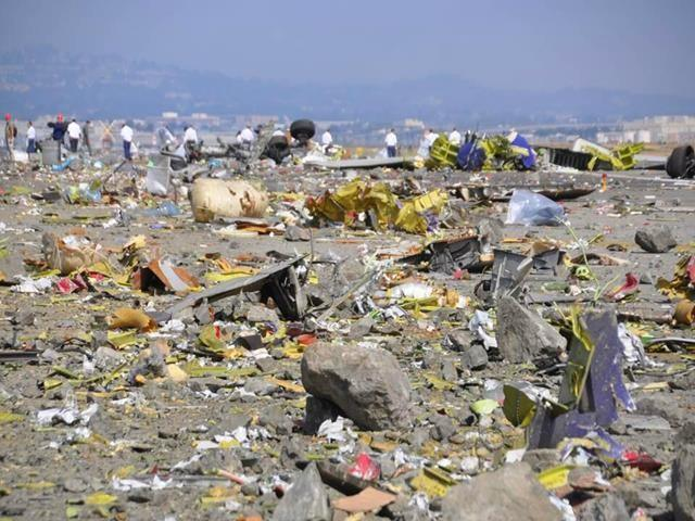 This is the debris field after the crash.