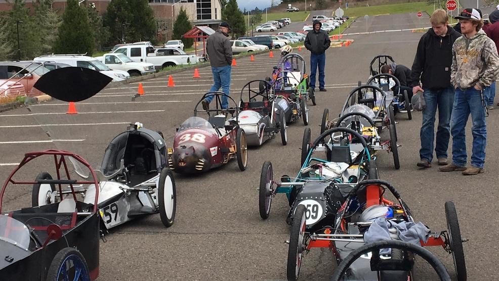 High school students race self-made cars at Lane Community College ...