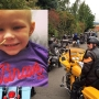 Dozens of bikers help escort girl with cancer from the hospital back to her Longview home