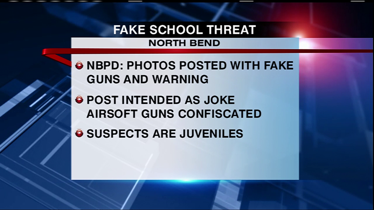 An investigation is ongoing after North Bend Police say two boys posed with fake guns and made a threat toward students on social media. (SBG image)