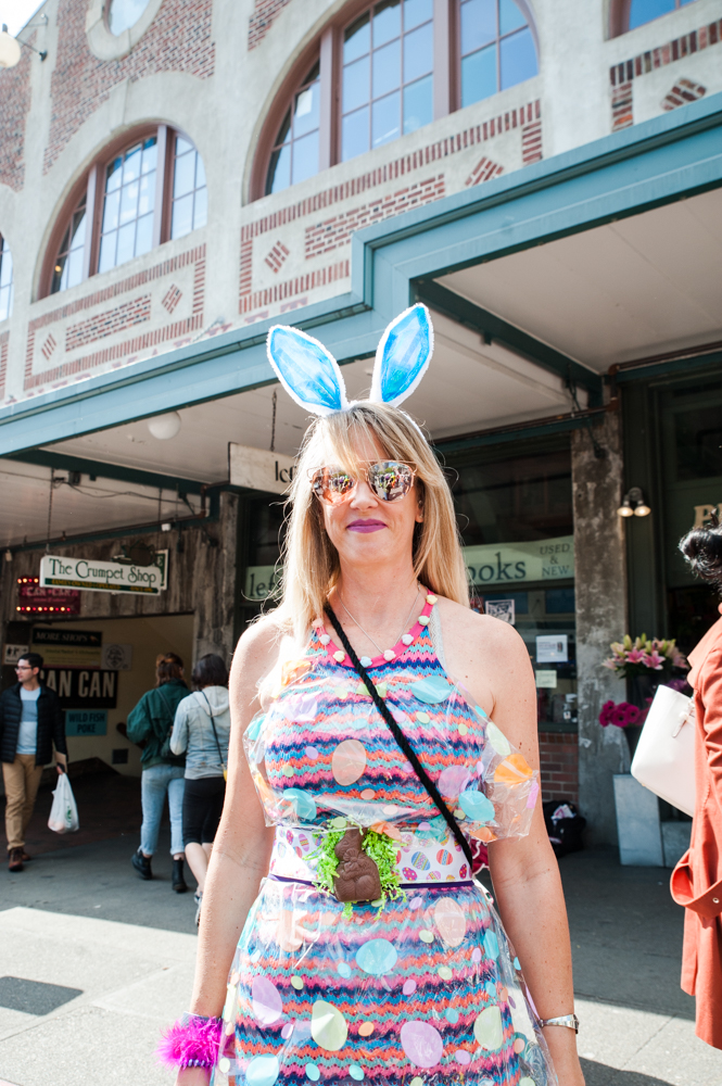 From the folks who bring us SantaCon....it's BunnyCon! Hundreds donned their ears and hopped around downtown Seattle for the 9th Annual Seattle BunnyCon. (Image: Elizabeth Crook / Seattle Refined)