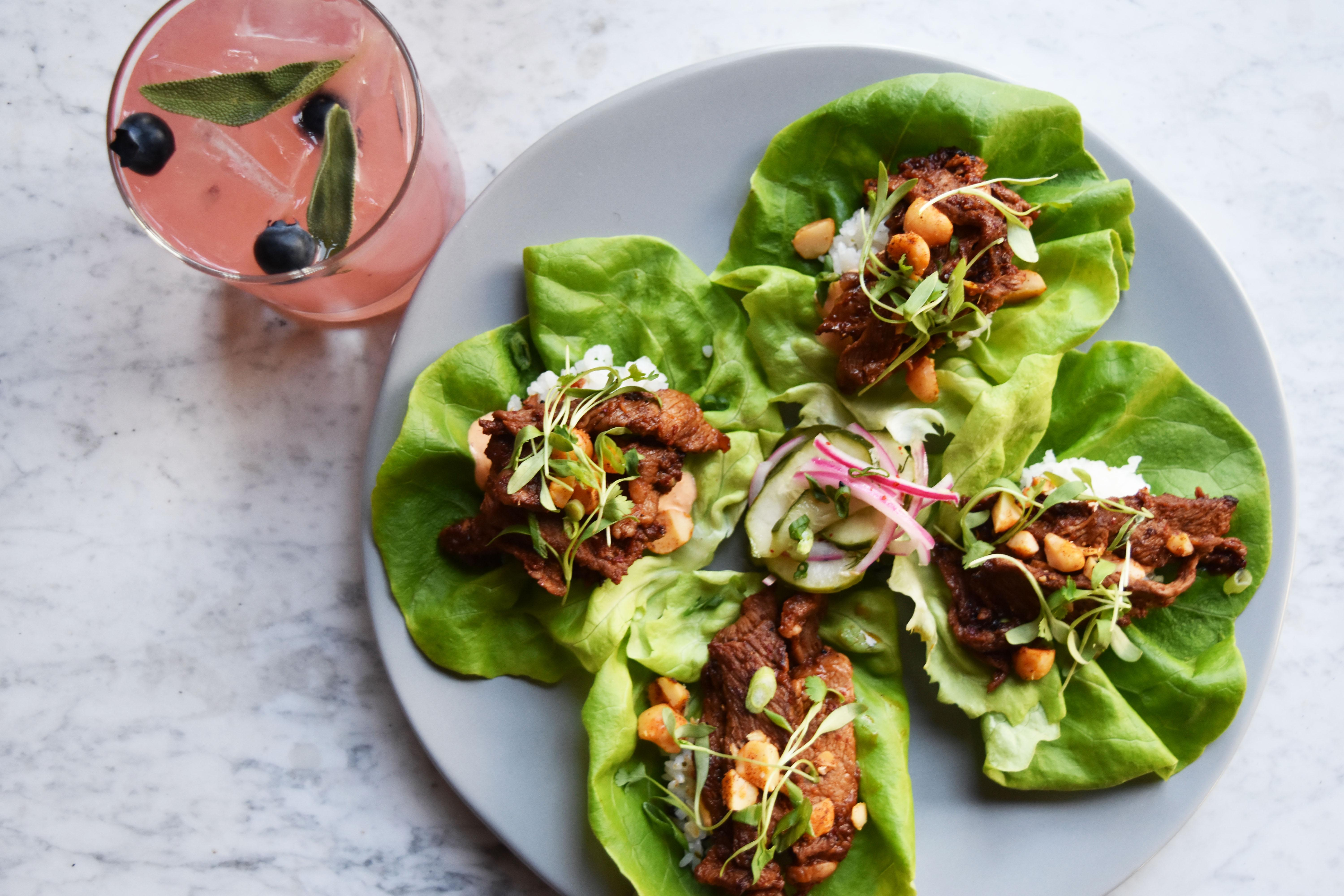 Bulgogi lettuce wraps from Circa, now open in Navy Yard. (Image: Courtesy MHG)