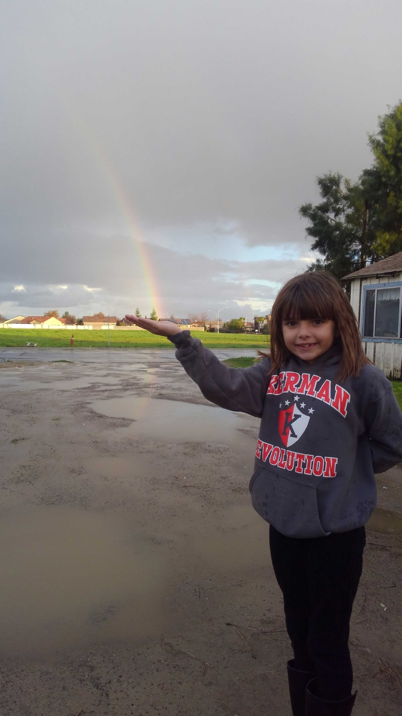 Catching the rainbow in Kerman by Shavawn Gentry 1-23-17