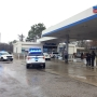 Shooting victim collapsed after driving self to gas station