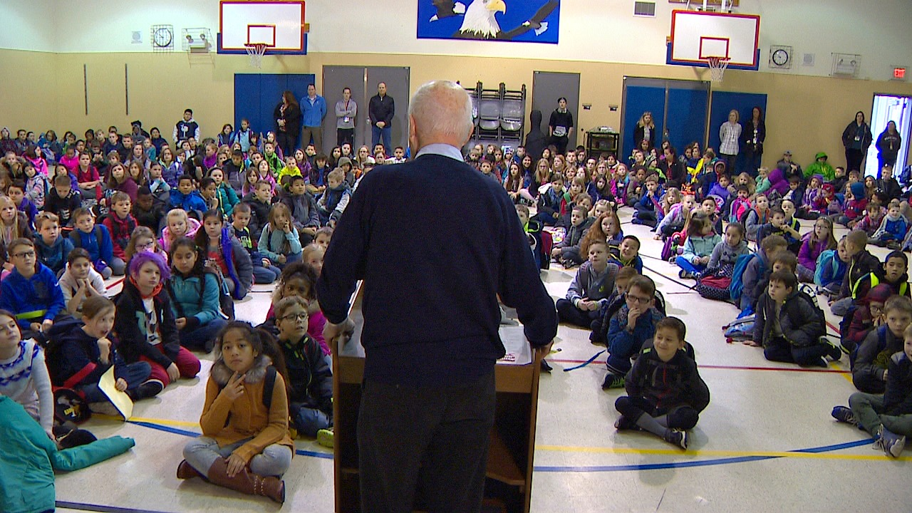 James Clinton at Meeker assembly. (Photo: KOMO News)<p></p>