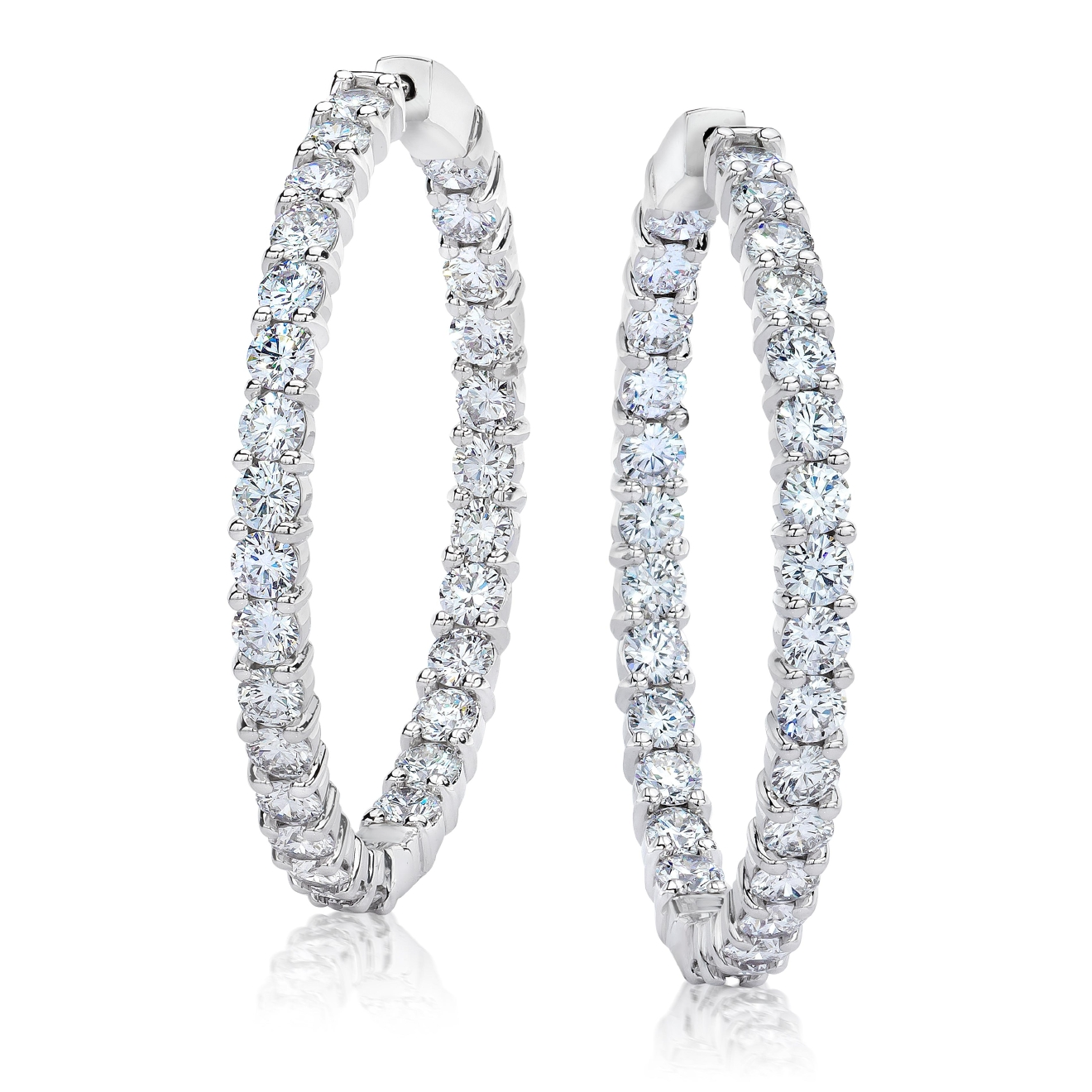 Liljenquist & Beckstead diamond hoop earrings, price upon request, Liljenquist & Beckstead Jewelers, 8075 Leesburg Pike, Vienna, VA (Image: Courtesy Liljenquist & Beckstead)