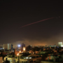 Blasts from airstrikes turn Syria sky orange