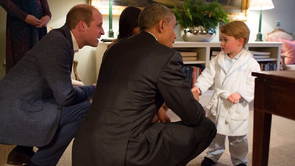 #ObamaAndGeorge: Obama meets Prince George
