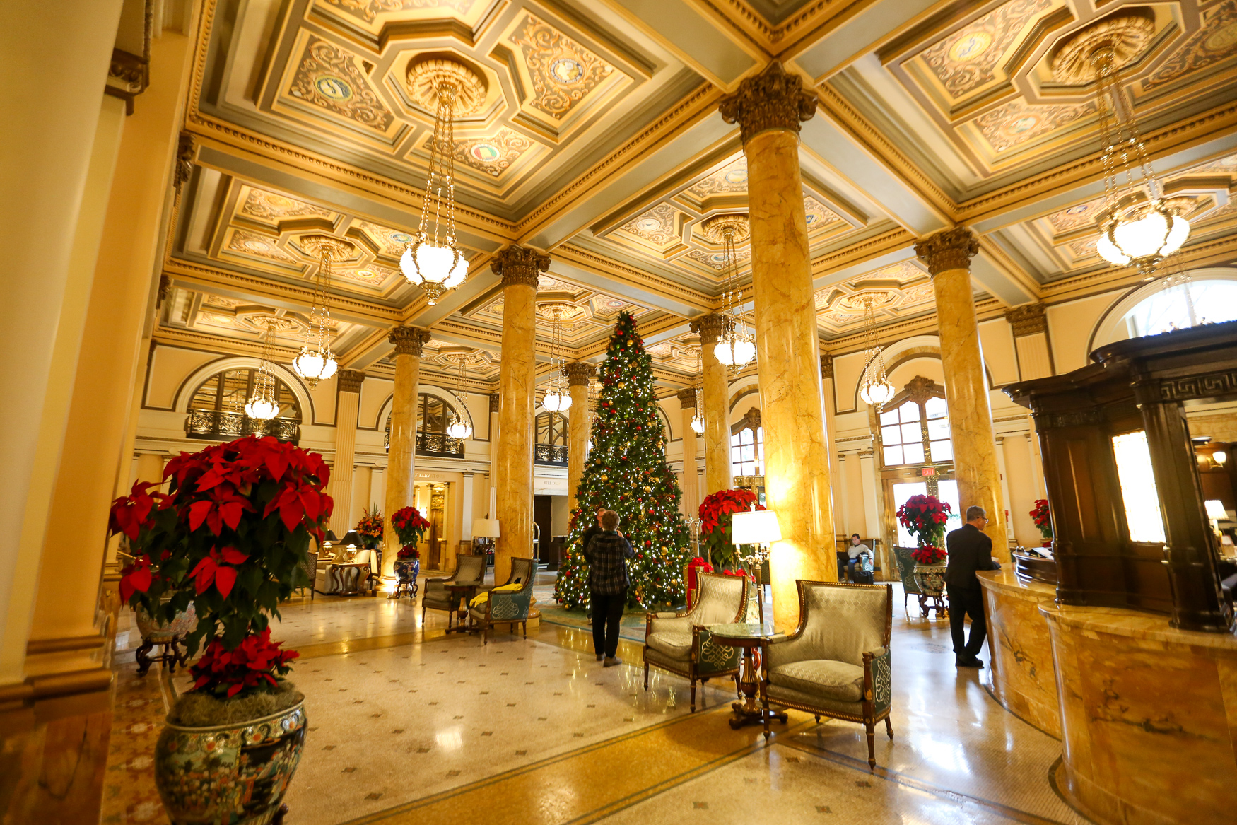 The Willard InterContinental hotel in downtown D.C. is getting ready for Christmas. The historic hotel features dozens of Christmas trees with decor that{ } matches the already-opulent interior. One of the main draws is the trees in the Lincoln Library, which features the{ }White House Ornament Collection. The collection honors each president or a special event in the White House. The hotel is fully decorated as of this week and it's worth a visit if you're looking to get into the holiday spirit. (Amanda Andrade-Rhoades/DC Refined)