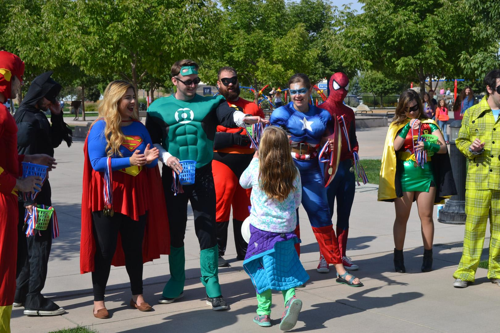 The 4th annual NF walk took place on Saturday in Julius Kleiner Park. It was a fun-filled day with interactive superheroes, superhero activities, face painting, a dance off and more! Kids had the chance to dress up like superheroes and even meet some superheroes at the finish line. Proceeds from the walk benefit the Children's Tumor Foundation, a leader in the fight against Neurofibromatosis. NF is a rare genetic disorder that causes tumors to grow on nerves throughout the body. The disorder affects 1 in 3,000 people. There is currently no treatment or cure for NF but those who took part in the event raised money to fund critical research. (KBOI Staff Photo)