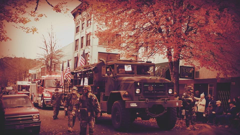 Images from the 2017 Douglas County Veterans Day Parade in downtown Roseburg, Ore., November 11, 2017. (courtesy Michele Gruber)<p></p>