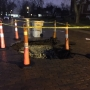 TRAFFIC: Sinkhole reported on St. Joseph Street in South Bend