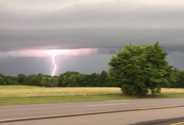 From Morgan Murphy on Highway 51 coming into Wagoner.