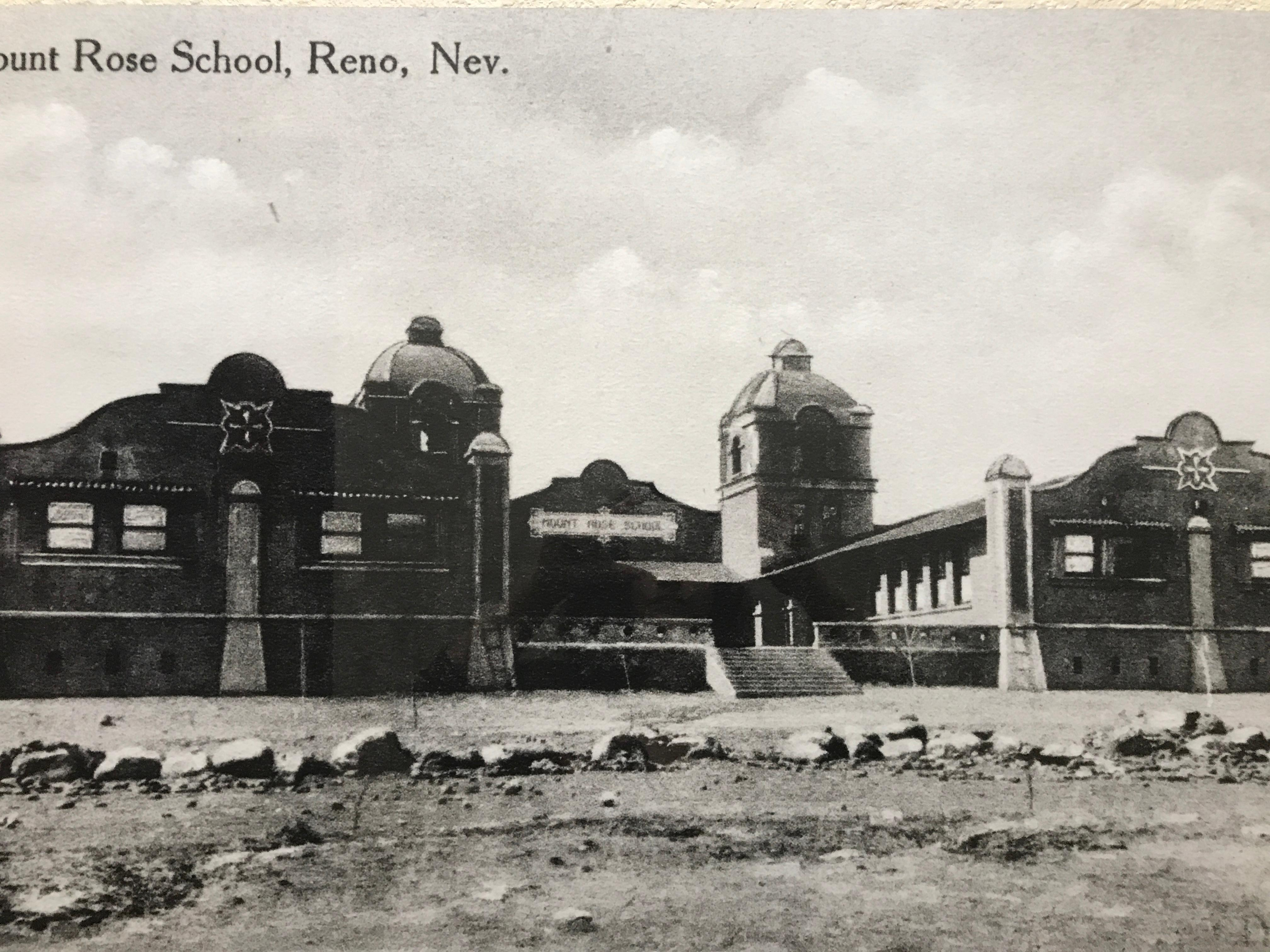 The Mount Rose Elementary School was constructed in 1912, on a large open field at what was then the southern edge of Reno. Mount Rose School served the southwest quadrant of Reno, an area generally known today as the Old Southwest. The school still stands today located on Arlington Street. (Photo courtesy: Nevada Historical Society)