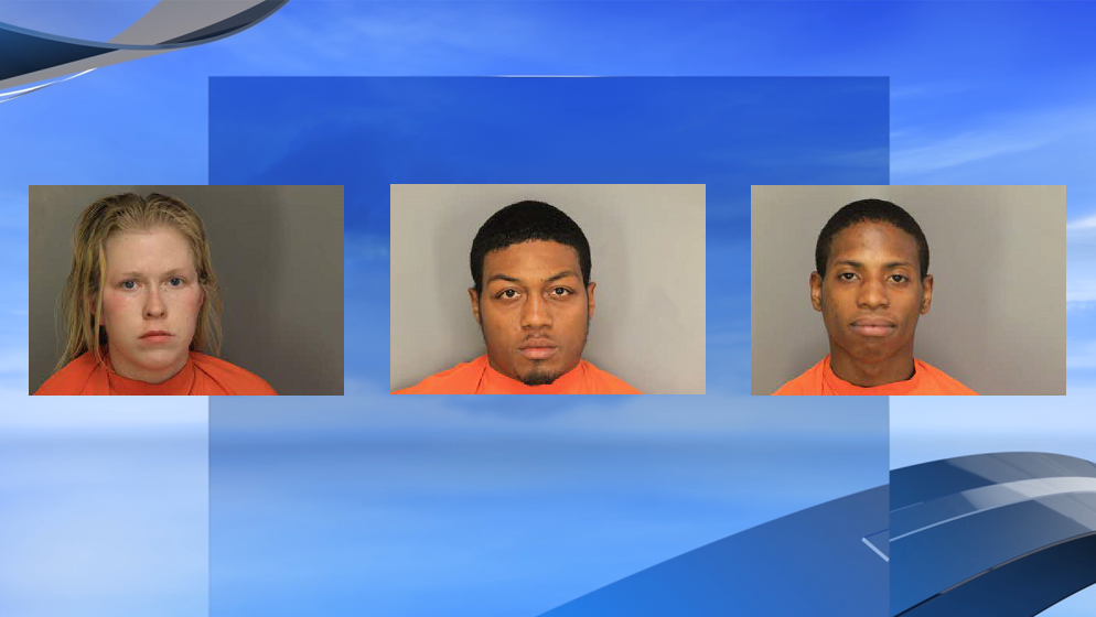 Four plead guilty in gang trafficking fentanyl and heroin case in Horry, Florence areas. Not pictured: Deshawn Earl Chestnut (Photos: Florence County Sheriff's Office; background: WPDE)