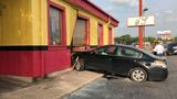 Man accused of driving stolen car crashes into Tony's BBQ off the Eastex Freeway
