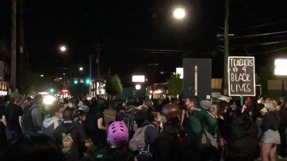 Police declare riot, arrest 16 in North Portland