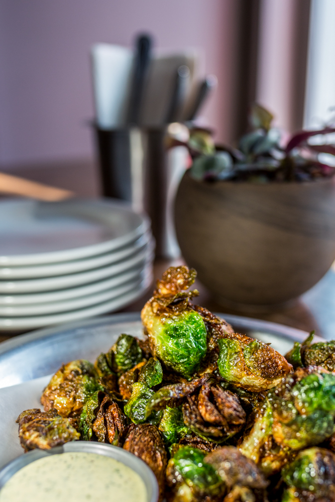 Crispy brussels sprouts served with aji verde aioli / Image: Catherine Viox{ }// Published: 6.12.19