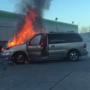 Minivan catches fire in Pawtucket