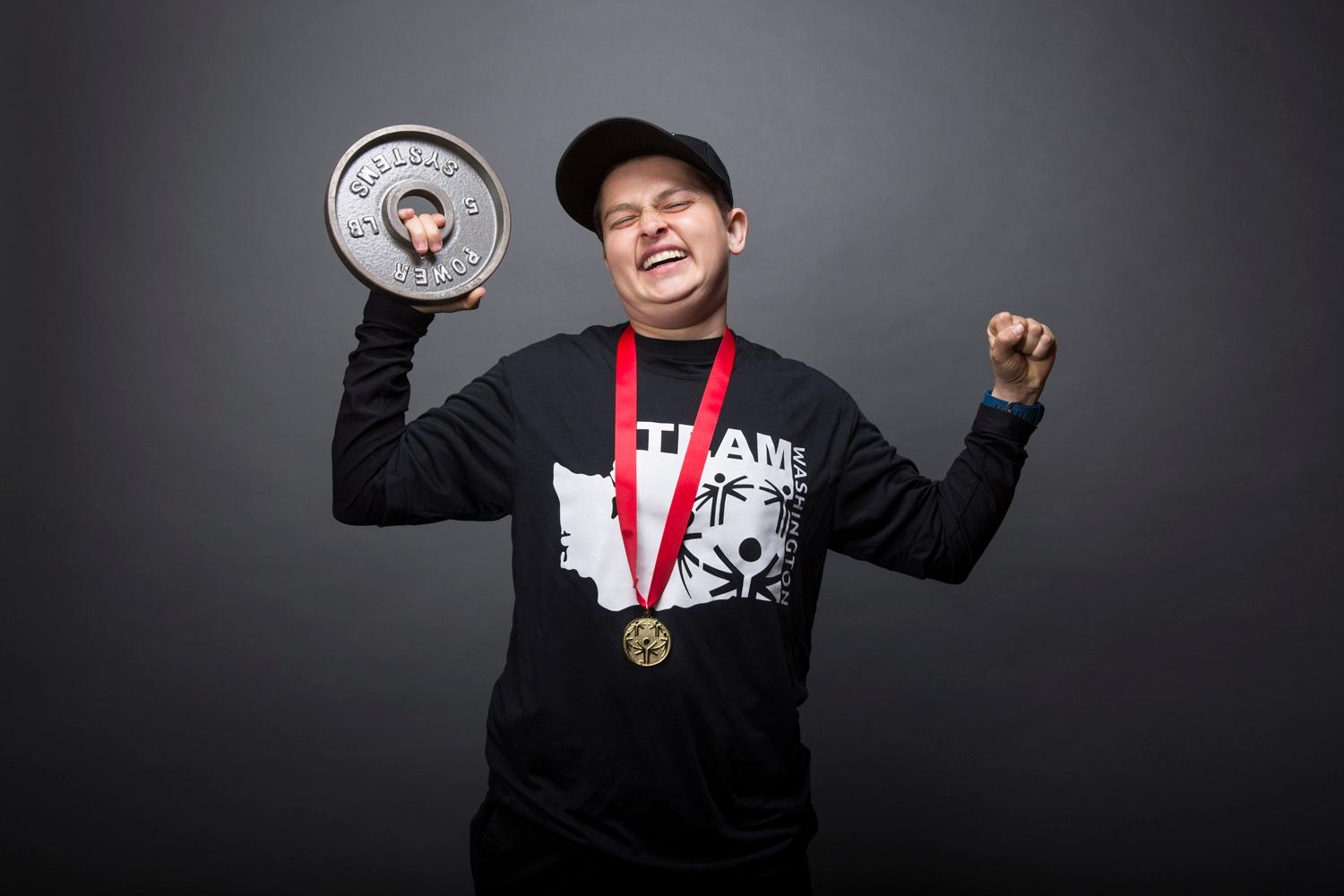 Introducing Jennifer Goodley! Jennifer will be competing in powerlifting. The Special Olympics USA will take place in Seattle from July 1-6, with a grand opening ceremony and Parade of Athletes and the lighting of the Special Olympics Flame of Hope. (Sy Bean / Seattle Refined)