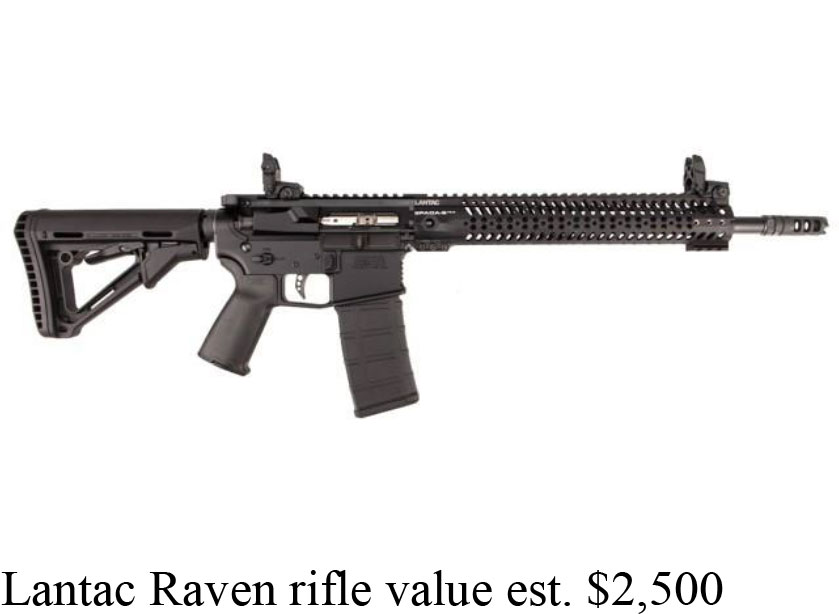 On Saturday, June 17, the suspect took a Lantac Raven assault rifle valued at $2,500 at 3:50 p.m.  (Photo via SPD)