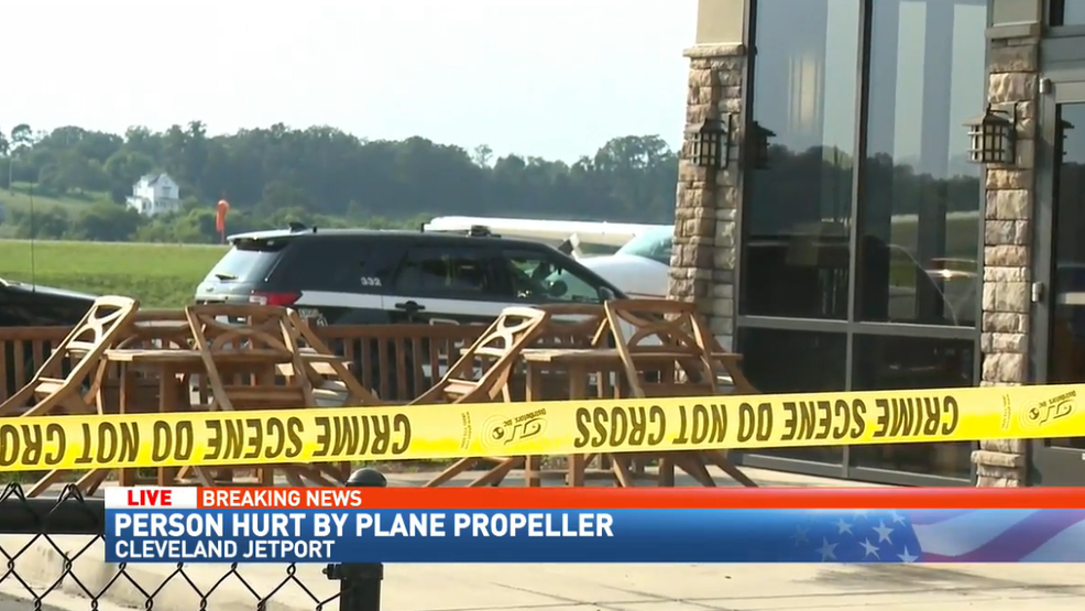 person hit with propeller at cleveland jetport thursday afternoon wtvc