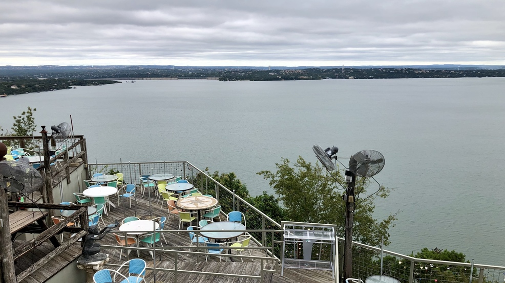 This View Of Lake Travis From The Oasis Restaurant Shows Impact Historic Flooding On Highland Lakes Is Very Slowly Starting To Subside
