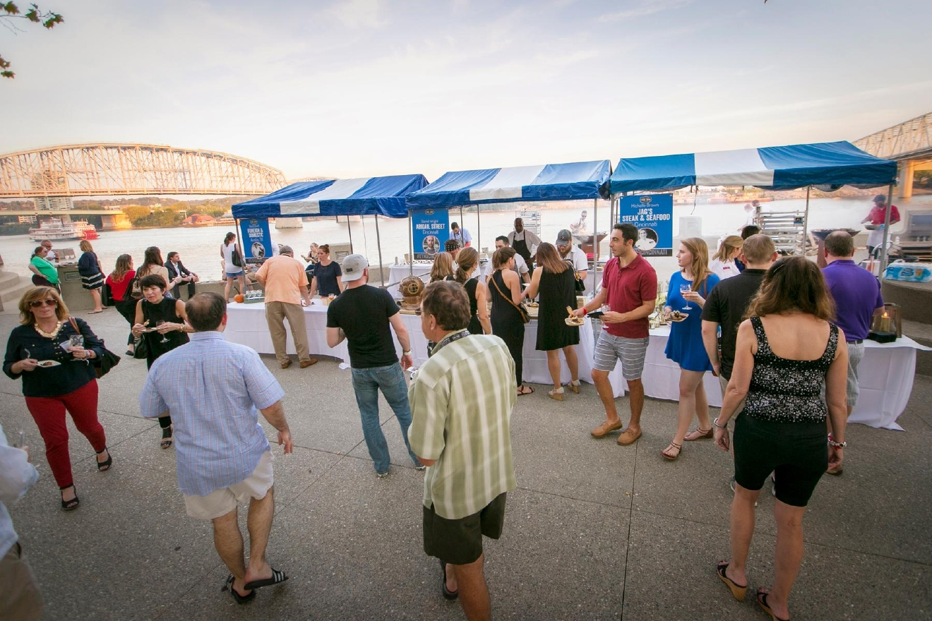 The third annual Cincinnati Food + Wine Classic kicked off on Friday, September 23 at Yeatman's Cove. / Image: Mike Bresnen Photography