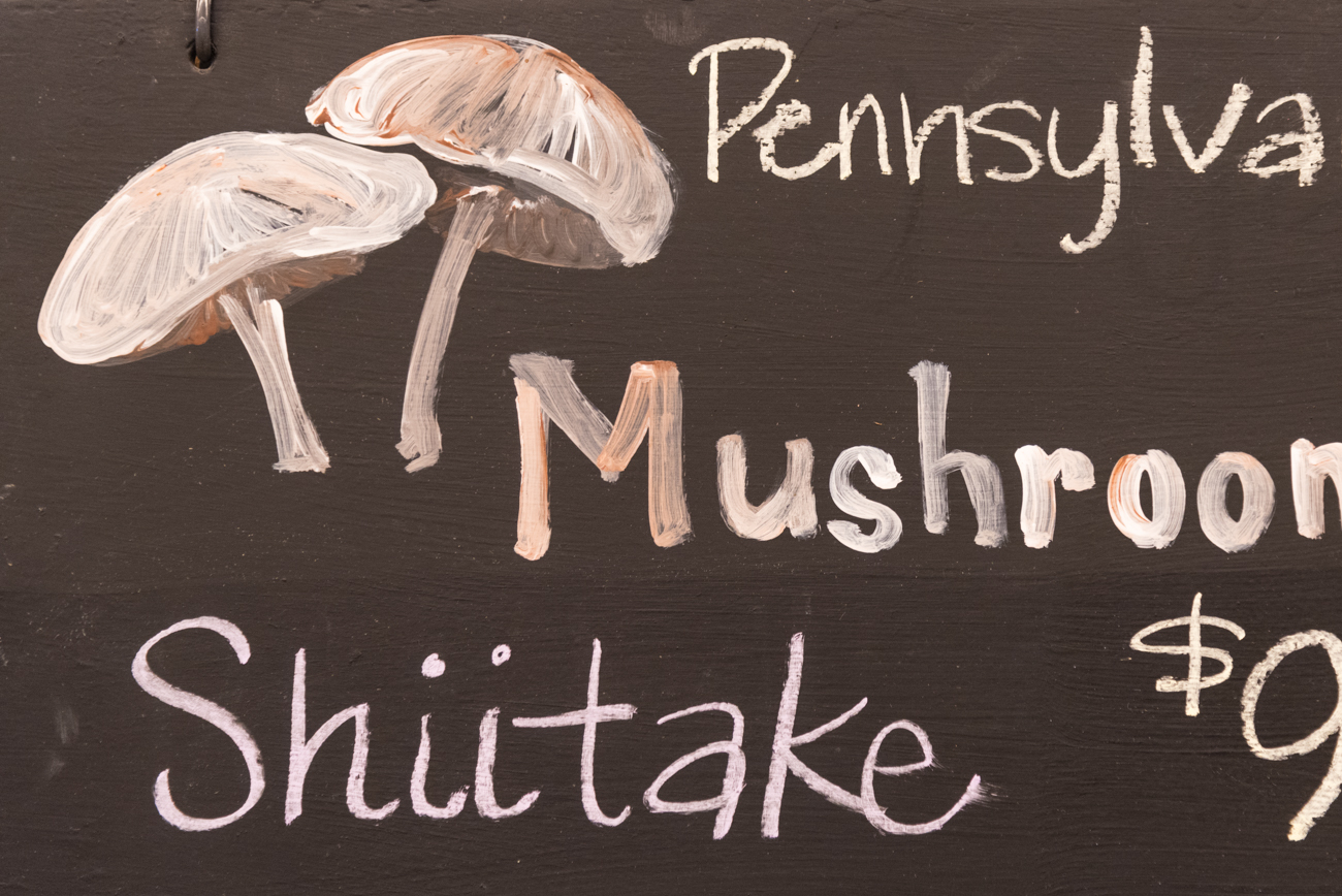 The market has neat hand-painted signs for all the produce items. Each one is well done and sometimes even comical. / Image: Phil Armstrong, Cincinnati Refined / Published: 11.7.16