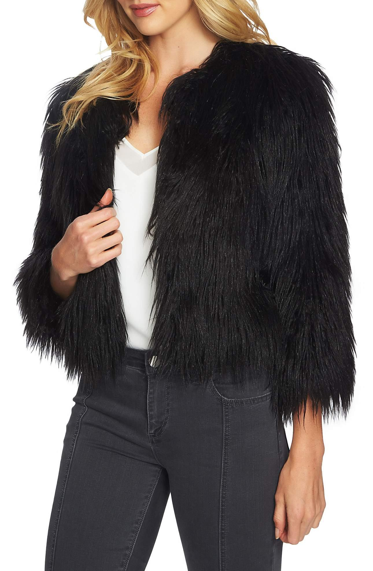 <p>Crop Faux Fur Jacket - $159. This screams Sex and the City!{&amp;nbsp;}A not so simple jacket makes the most glamorous topper in sumptuous faux fur, while bracelet sleeves are perfect for showing off your favorite wristwear. Love! (Image: Nordstrom){&amp;nbsp;}</p><p></p>