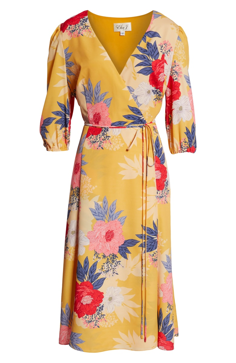 Eliza J Faux Wrap Midi Dress -- Sale: $104.90/ After Sale: $158 (Image: Courtesy Nordstrom)