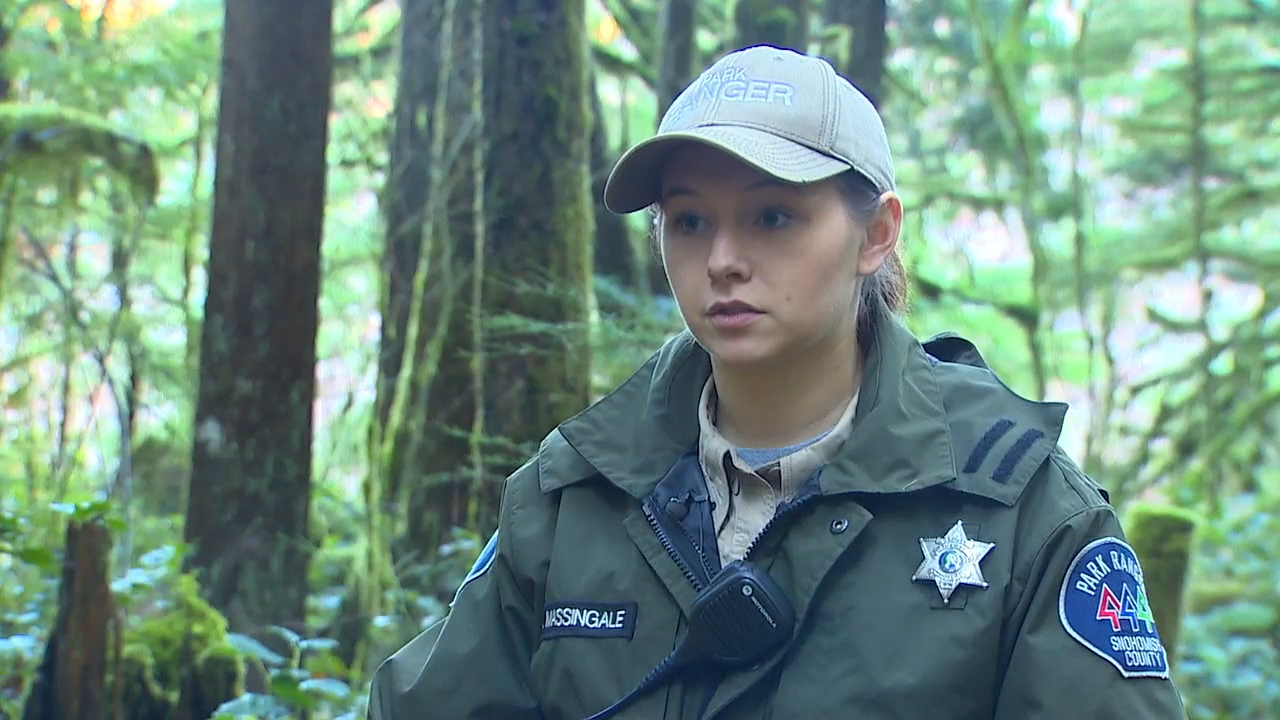 """It was one the most devastating things for us to be out here doing our job and to realized that someone has taken advantage of our natural resources,"" said Emily Massingale, a ranger for Snohomish County Parks and Recreation. (Photo: KOMO News)<p></p>"