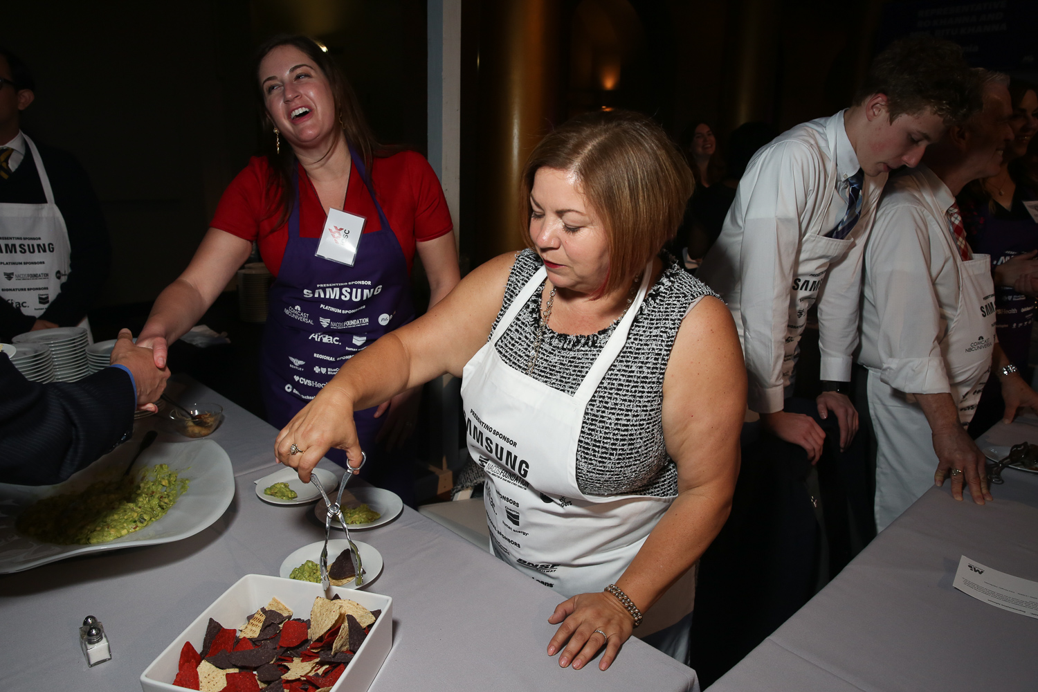 Rep. Linda Sanchez, whose guacamole took home the prize for being the healthiest dish.{ }(Amanda Andrade-Rhoades/DC Refined)