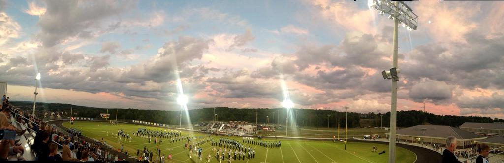 Band performs before kickoff of Helena's homecoming game against Jemison, Friday, Oct. 3, 2014.