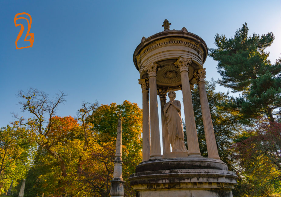 #2 - Spring Grove Cemetery is gorgeous year-round, but it's especially gorgeous in the fall. / Image: Phil Armstrong, Cincinnati Refined