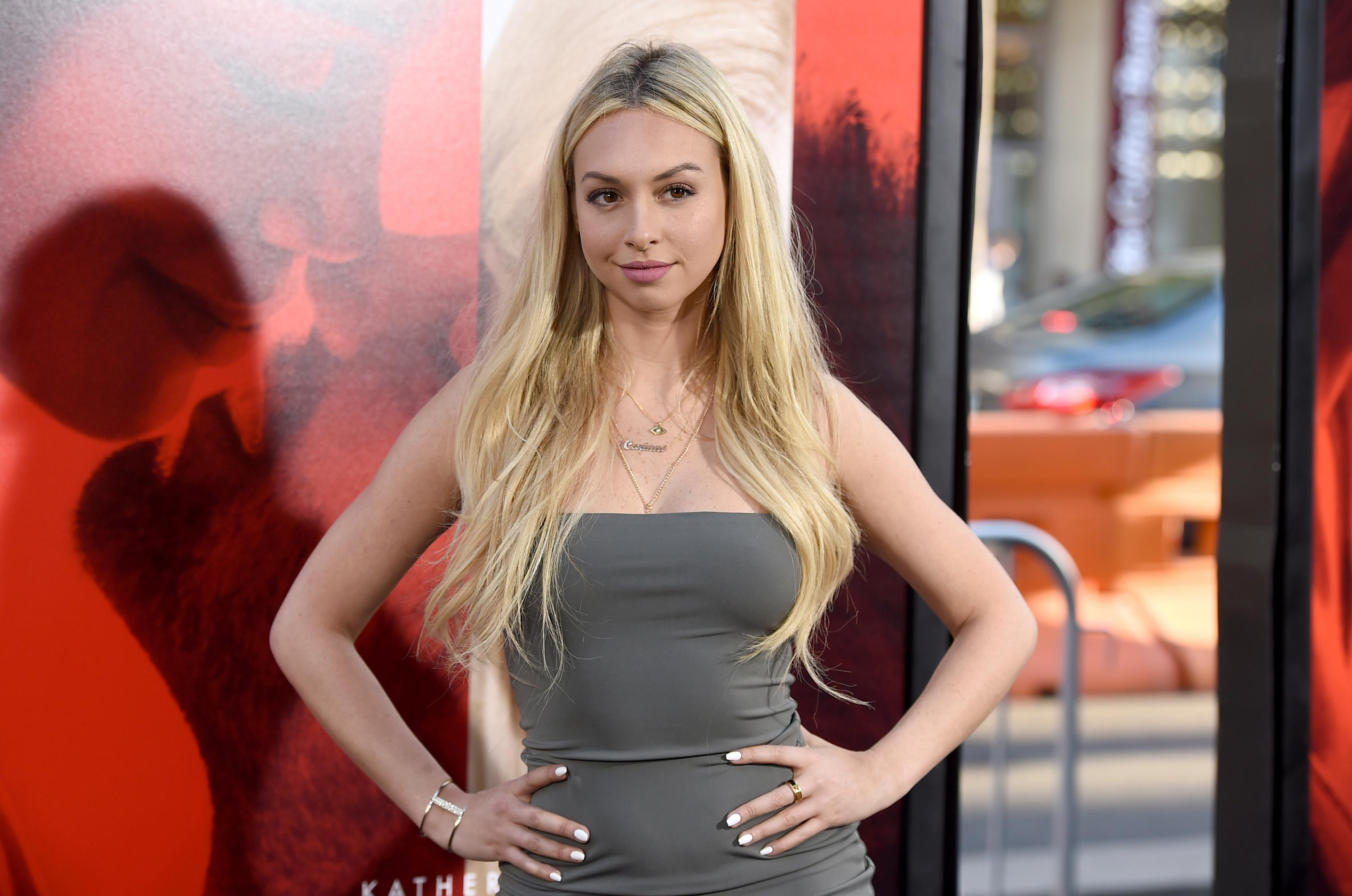 "Corinne Olympios arrives at the Los Angeles premiere of ""Unforgettable"" at the TCL Chinese Theatre on Tuesday, April 18, 2017. (Photo by Jordan Strauss/Invision/AP)"