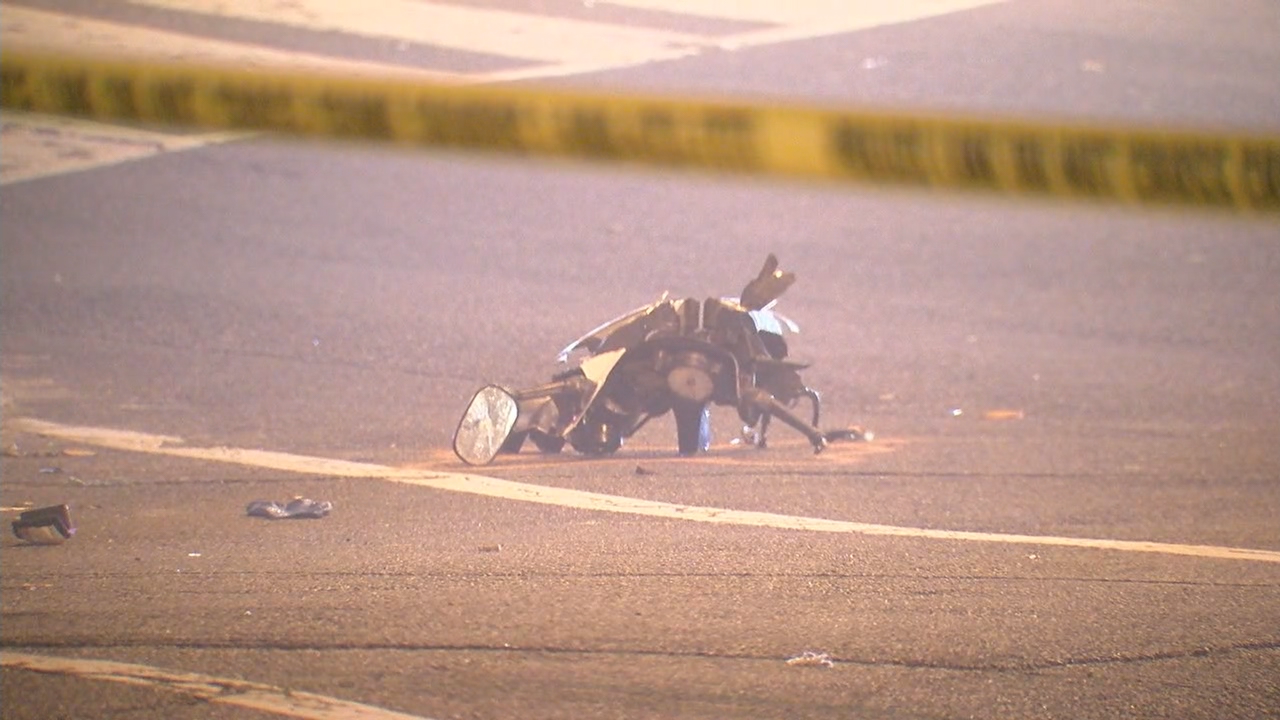 Man dead after crash involving motorcycle, police say. (ABC7)