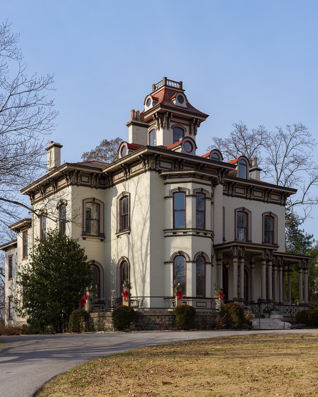 "If you're driving through Clifton, you might notice an Italianate mansion that sits upon a slight hill along Clifton Avenue. Known as the Wayne-Rawson Villa, this home was built just after the end of the American Civil War for Jacob Lloyd Wayne, Jr. A Union veteran, Wayne made his fortune selling hardware and moved into the house in 1867. / Image: Phil Armstrong, Cincinnati Refined // Source: ""The Wayne-Rawson Villa"" by Walter E. Langsam (2015) with research by Betty Ann Smiddy // Published: 1.30.19"