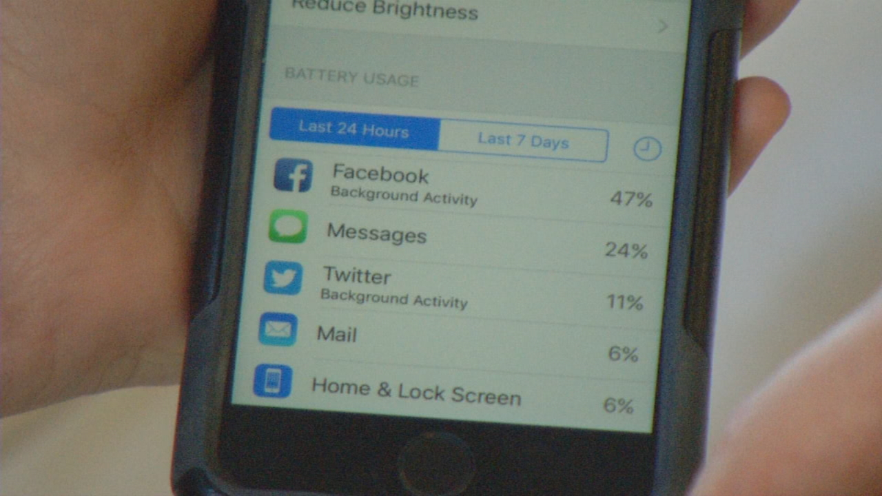 Call it the digital drain. It seems like no matter what you do, your smartphone will run out of data and battery long before you think it should. (Photo credit: WLOS staff)