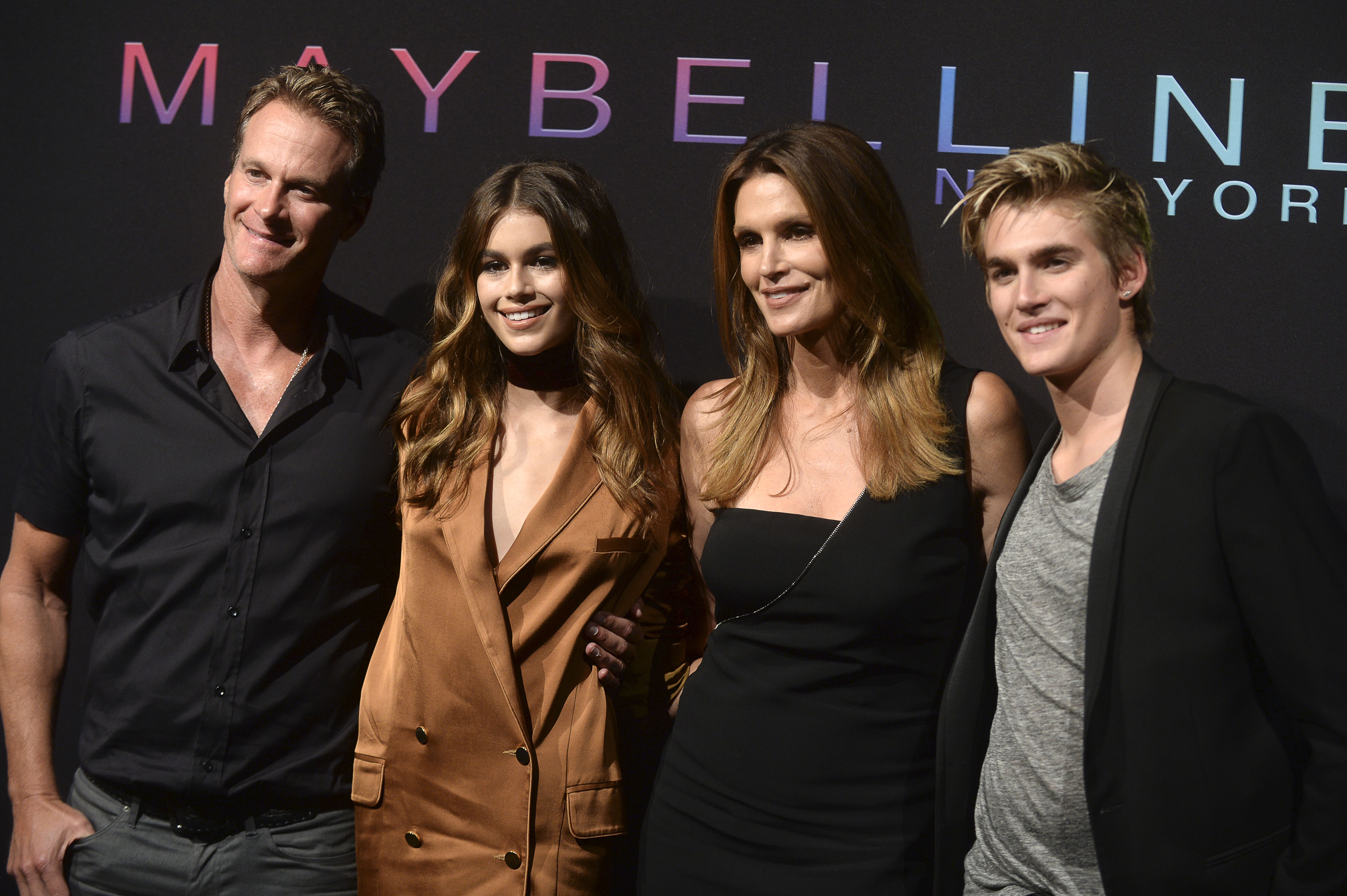 Maybelline New York Celebrates NYFW  Featuring: Rande Gerber, Kaia Gerber, Cindy Crawford, Presley Gerber Where: New York, New York, United States When: 08 Sep 2016 Credit: Dennis Van Tine/Future Image/WENN.com  **Not available for publication in Germany, Poland, Russia, Hungary, Slovenia, Czech Republic, Serbia, Croatia, Slovakia**