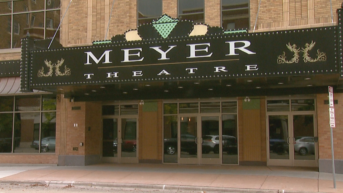 The Meyer Theatre, downtown Green Bay, seen Oct. 23, 2016. (WLUK/Amanda Cartwright)<p></p>