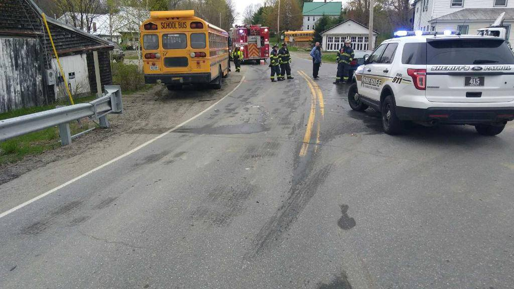 One student is hospitalized and a driver is charged, after deputies say a car slammed into a bus loaded with 22 kids. (Franklin County Sheriff's Office)