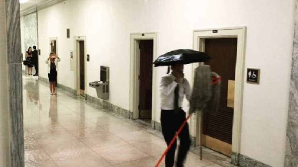 Rayburn House Office Foyer : Water line burst at rayburn house office building