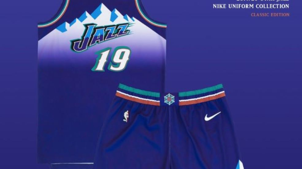 huge discount 7149b 5f990 Utah Jazz bring back iconic purple mountain jerseys for 2019 ...