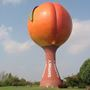 Fence put up around famous South Carolina peach water tower