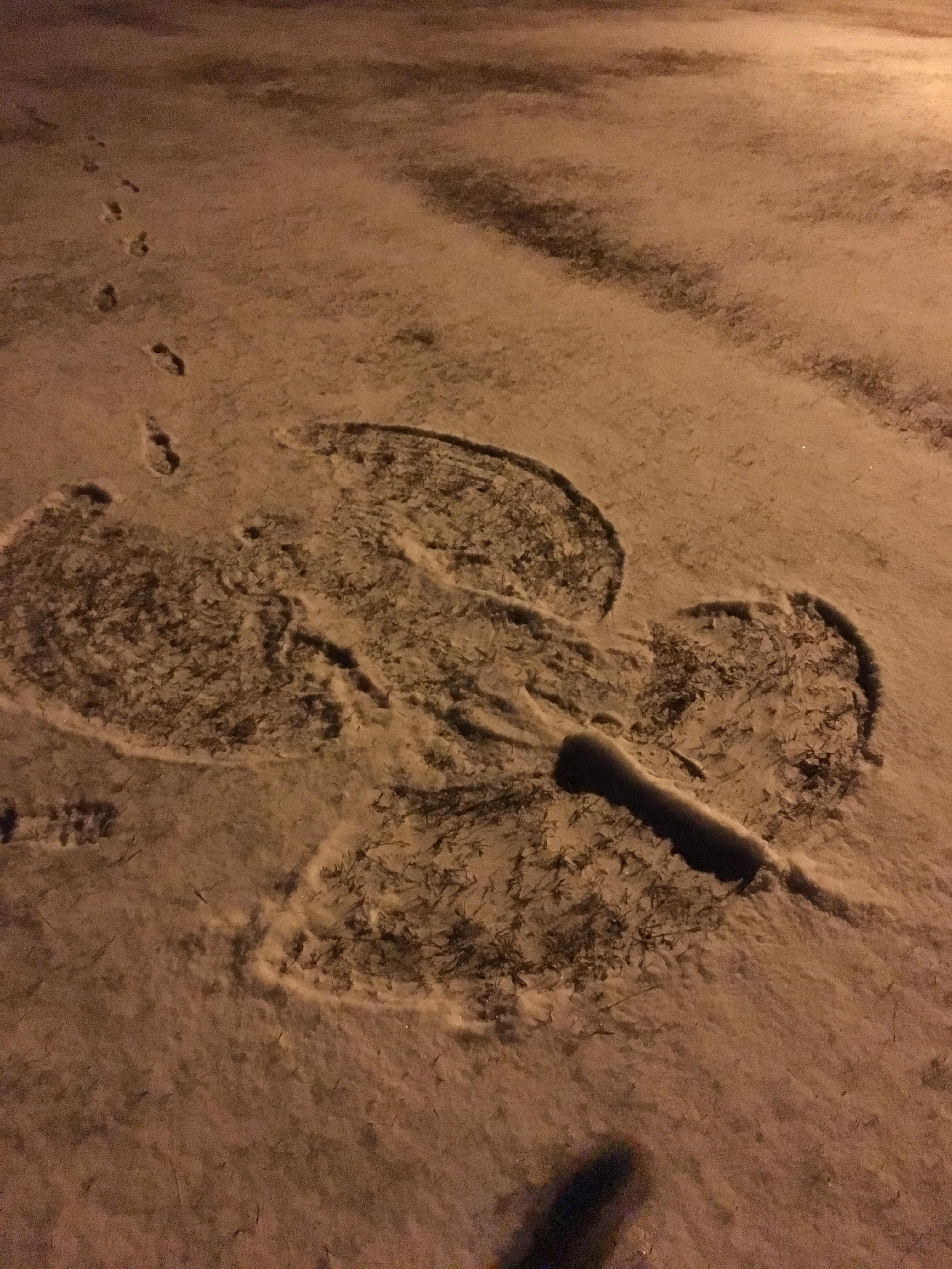 The completed snow angel (Submitted by Madison McKnight)<p></p>