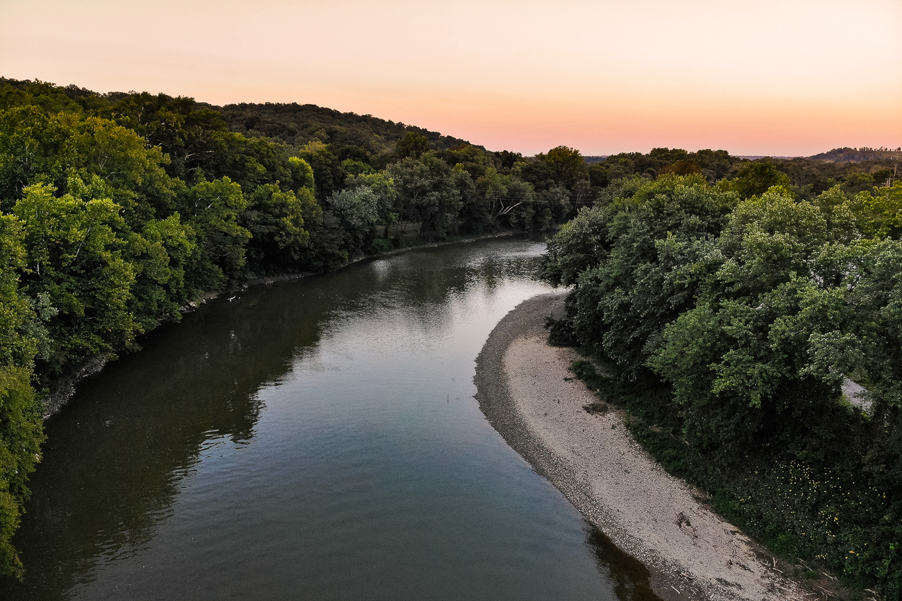 Sunset on the Little Miami River: a great way to end a day / Image: Allen Meyer // Published: 9.7.18