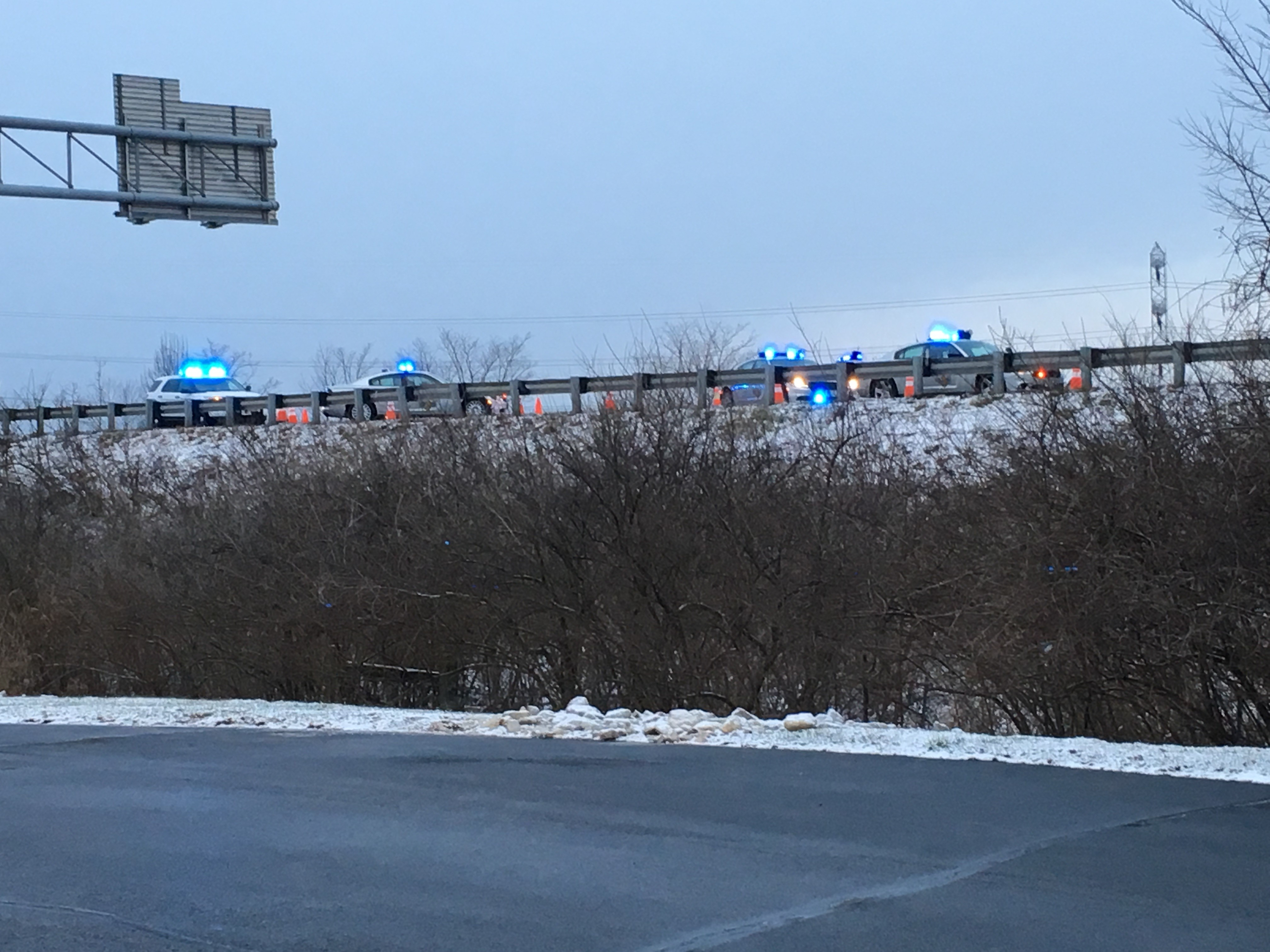 I-75 northbound shut down at Union Center due to a fatal accident (WKRC/Richard Lane)