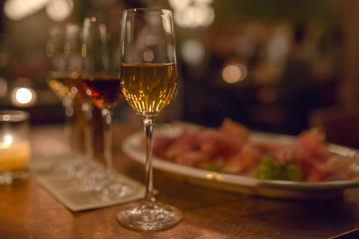 We thoroughly enjoyed the sherry flights, ham plates and great service at Hamlet (which also wins the prize for cutest logo in Portland). (Image: Paola Thomas / Seattle Refined)