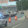 Tractor-trailer strikes overpass spilling concrete on I-395 in D.C., police say
